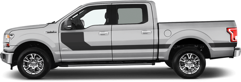 Ford F 150 Hockey Stick Side Stripes Vinyl Decal Graphic