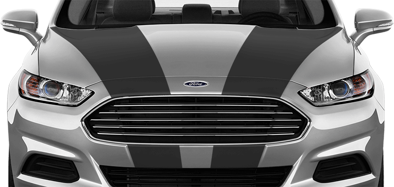 FORD FUSION Checkered Rocker Panel Side Stripes Decals 2013 2014 2015 2016