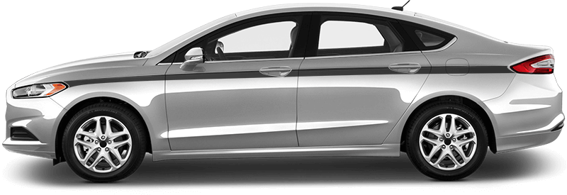 2013-2020 Fusion Light to Light Side Stripes on vehicle image.
