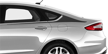 Image of Rear Quarter Shark Fin Stripes on the 2013 Ford Fusion