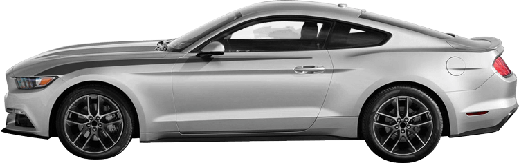2015-2020 Mustang Front Fender Headlamp Trails on vehicle image.