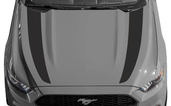 Hood Side Accent Stripes on the 2015 to Present Ford Mustang