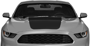 Main Hood Decals on the 2015 to Present Ford Mustang