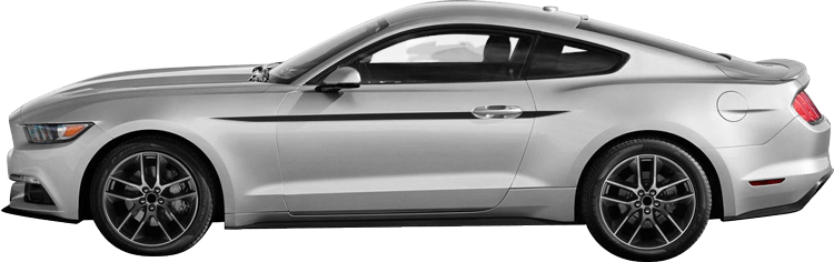 Image of Upper Side Accent Stripes on 2015 Ford Mustang