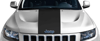 Image of SRT Hood Center Stripe on the 2011 Jeep Grand Cherokee