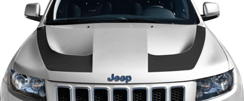 Image of SRT Hood Hockey Stick Stripes on the 2011 Jeep Grand Cherokee