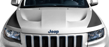 Image of SRT Hood Side Blackout Stripes on the 2011 Jeep Grand Cherokee